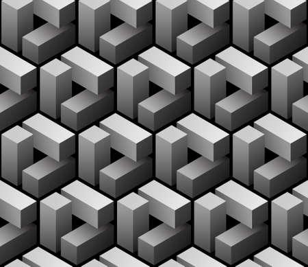 3 d のシームレスなパターン ベクトル
