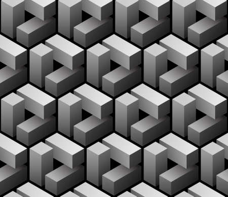 vector 3d seamless pattern Çizim