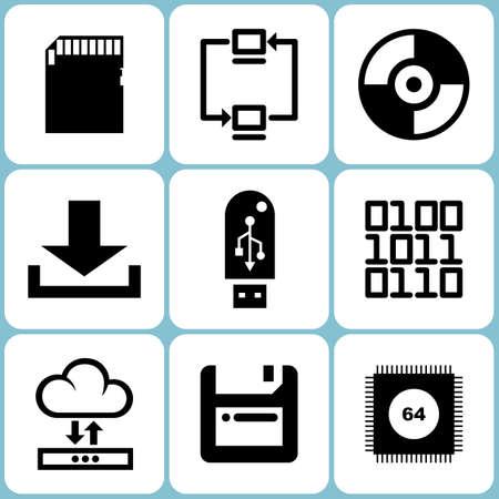 ethernet: Digital Data Icons Set