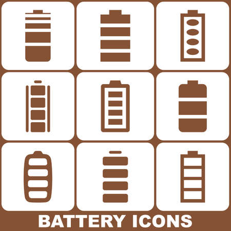 Battery Icons Set Vector