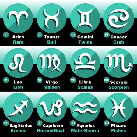 zodiac signs: Zodiac Signs Set