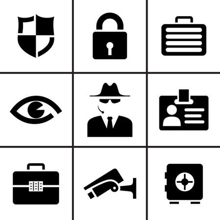 code lock: Security and safey icons set vector illustration Illustration