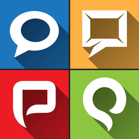 Speech bubble icons set vector illustration Vector