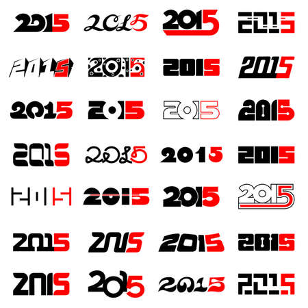 New year 2015 text design collection for greeting cards and calendar new year 2015 text design collection for greeting cards and calendar stock vector 34362547 m4hsunfo