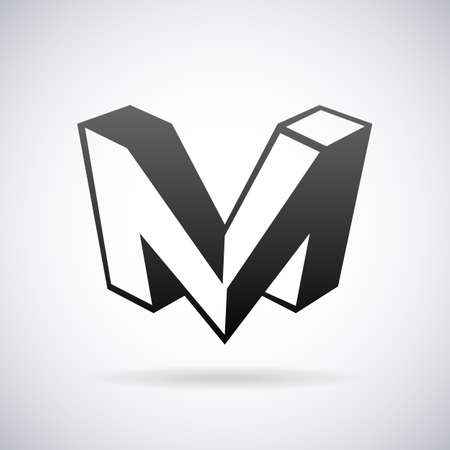 icons: Vector logo for letter M design template Stock Illustratie