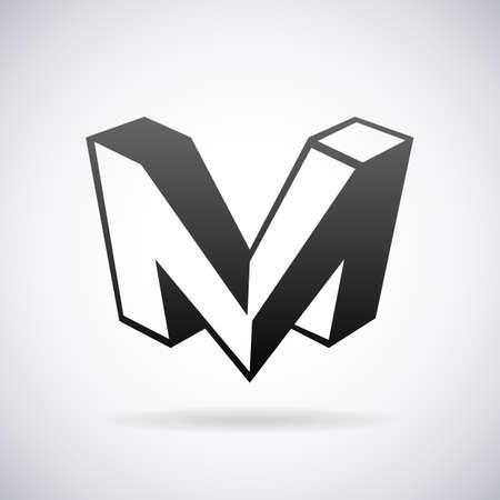 ikony: Vector logo litera M szablonu projektu