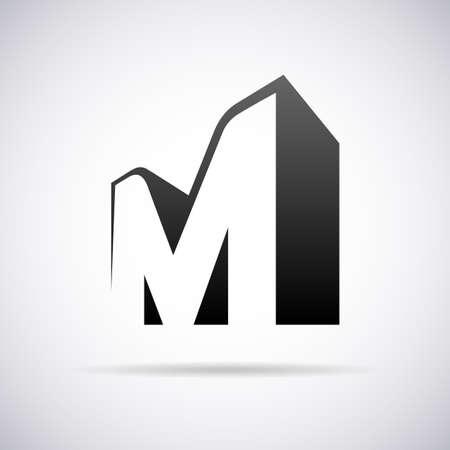 letra m: Logo vector para el dise�o de la plantilla letra M