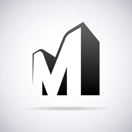 Vector logo for letter M design template Illustration