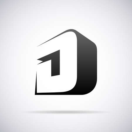 logo letter:  letter D design template vector illustration