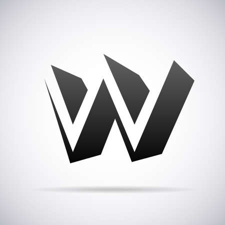 w: letter W design template vector illustration