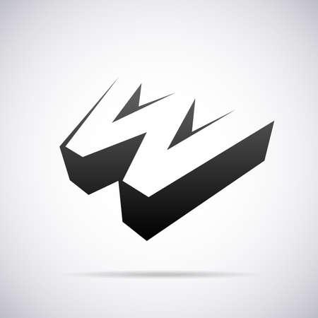 letter W design template vector illustration