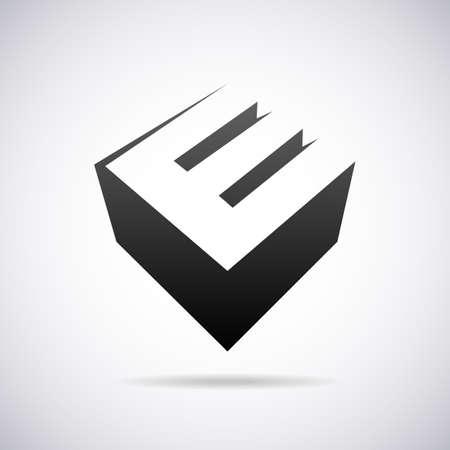 e business: letter E design template vector illustration Illustration