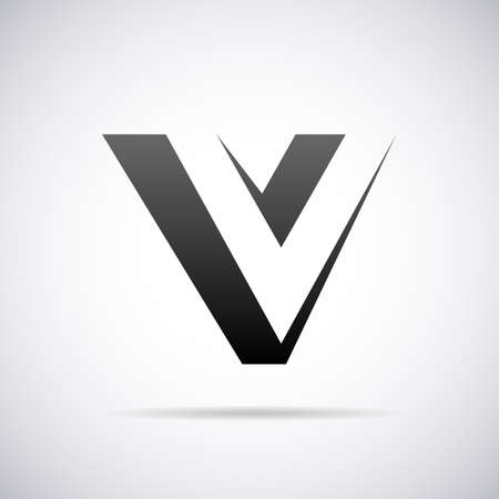 brand logo:  letter V design template vector illustration Illustration