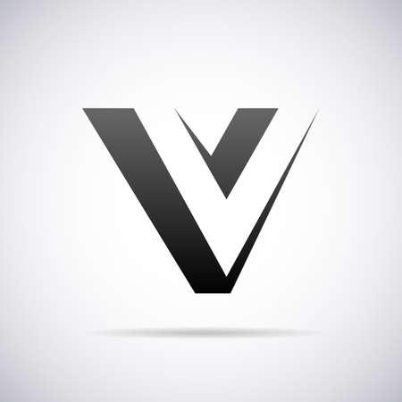 V の文字デザイン テンプレート ベクトル図  イラスト・ベクター素材