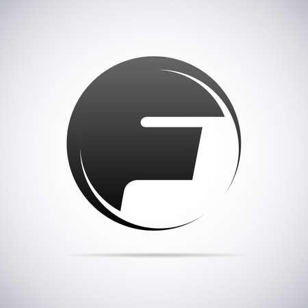 lettre alphabet: lettre F conception vecteur modèle illustration