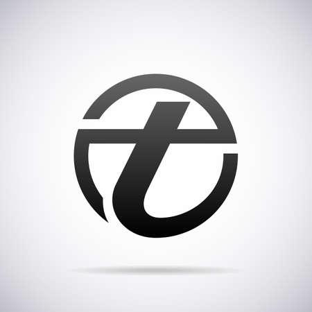 Logo pour la lettre T modèle de conception illustration vectorielle Banque d'images - 40295991