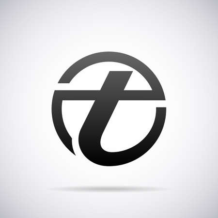 tipos de letras: Logotipo de la letra T plantilla de diseño ilustración vectorial