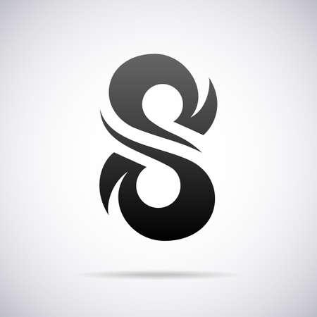 lettre s: conception vecteur modèle de l'illustration de la lettre Illustration