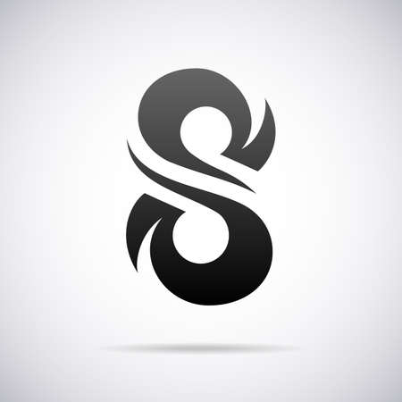 S 字デザイン テンプレート ベクトル図
