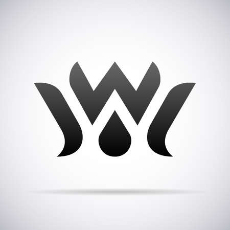 Logo voor de letter W design template vector illustratie