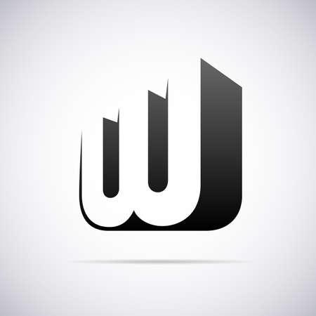 tipos de letras: letra W plantilla de diseño ilustración vectorial Vectores