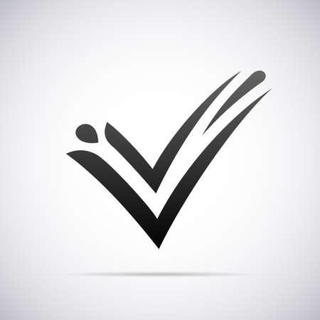 v shape: letter V design template vector illustration Illustration