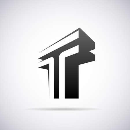 T の文字デザイン テンプレート ベクトル図