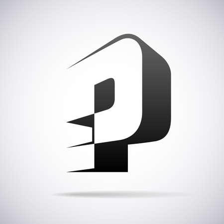 letter P design template vector illustration Stok Fotoğraf - 40324514