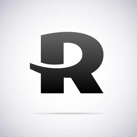 r: letter R design template vector illustration Illustration