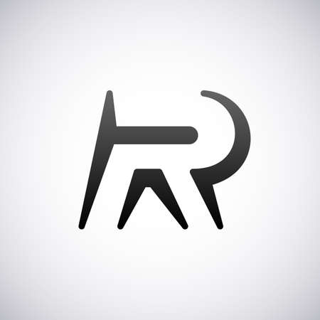 letter r:  letter R design template vector illustration