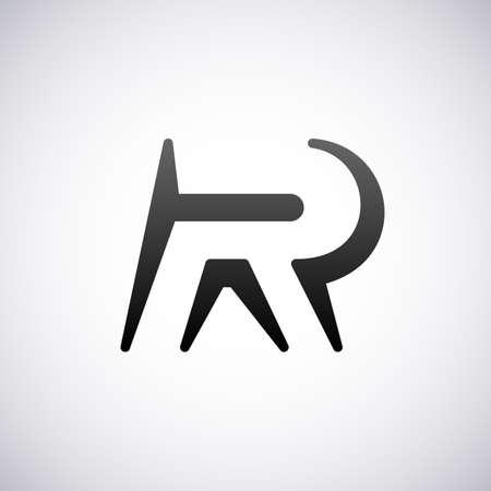 letter R:  letter R design template vector illustration