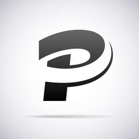 Carta de diseño P ilustración tarjeta vector Foto de archivo - 40324574