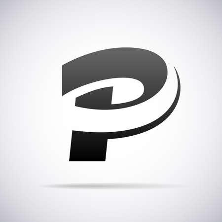 letter P design template vector illustration Vettoriali