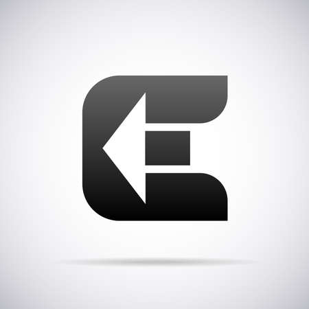 letter E design template vector illustration Çizim