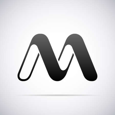 letter M design template vector illustration Illusztráció