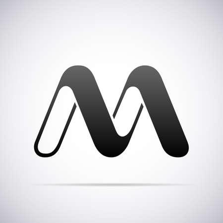 tipos de letras: letra M ilustraci�n plantilla de dise�o vectorial Vectores