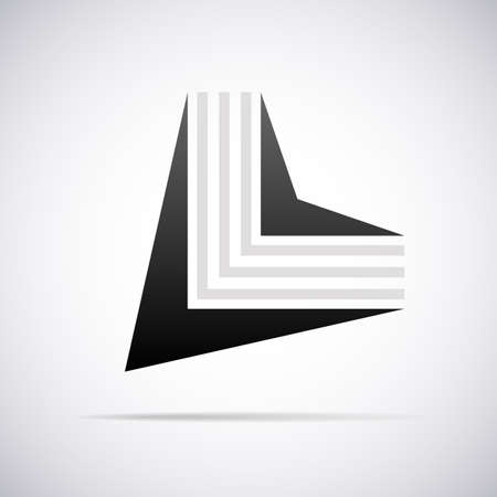 letter l: letter L design template vector illustration
