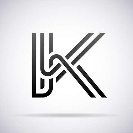 buchstabe k: Logo f�r Buchstabe K-Design-Vorlage Vektor-Illustration