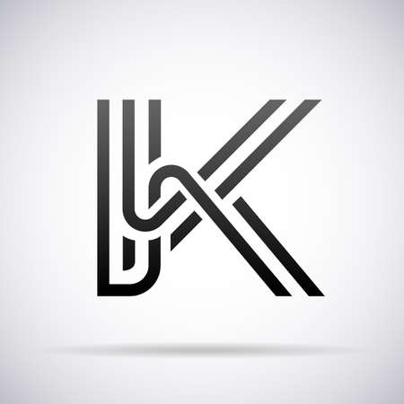 Logo for letter K design template vector illustration