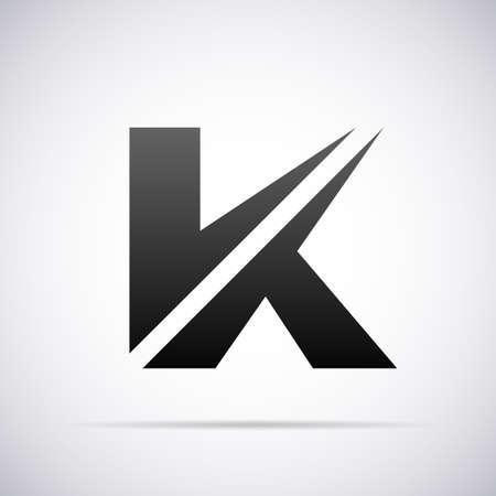 K の文字デザイン テンプレート ベクトル図  イラスト・ベクター素材