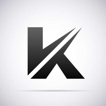 letter K design template vector illustration