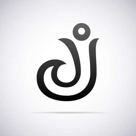 letter j: letter J design template vector illustration Illustration