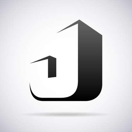 alphabet letter a: letter J design template vector illustration Illustration