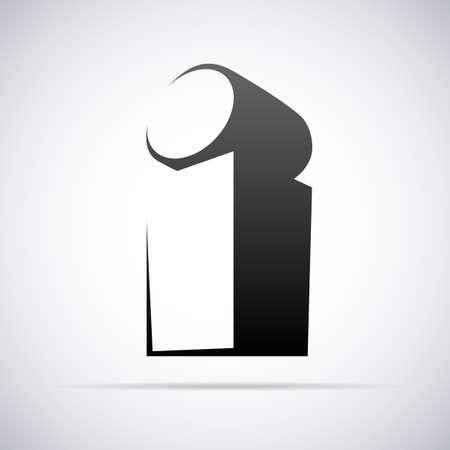 letter i:  letter i design template vector illustration