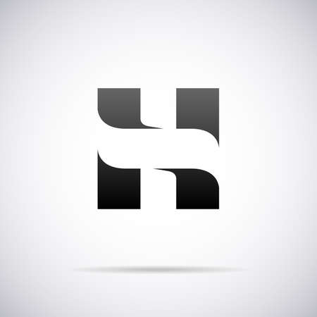 letter H design template vector illustration