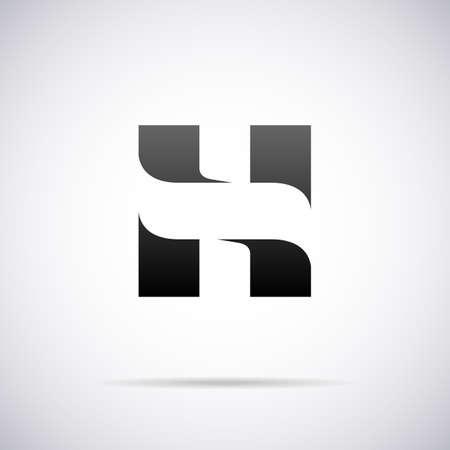 sign h: letter H design template vector illustration