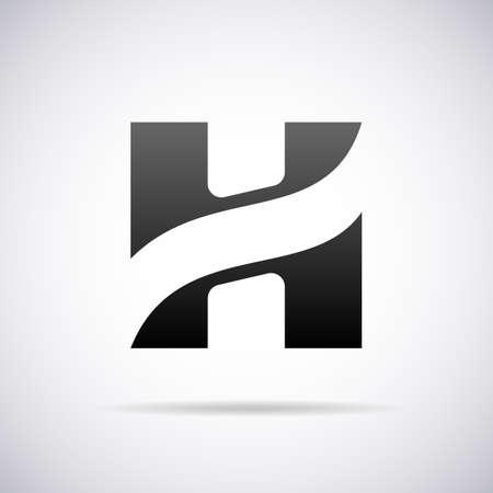 letra H ilustración plantilla de diseño vectorial