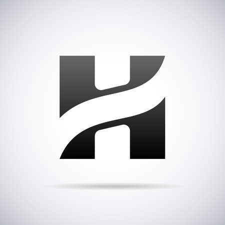 letter h:  letter H design template vector illustration