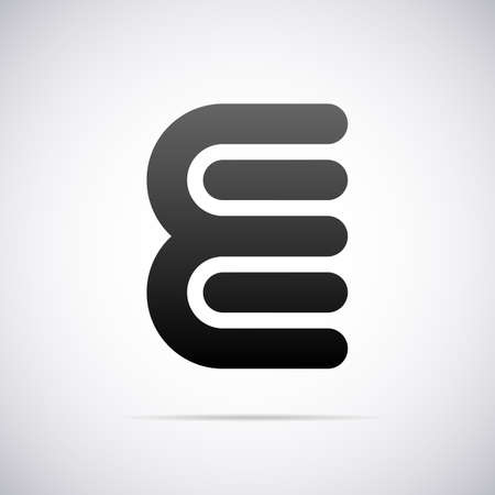letter E design template vector illustration