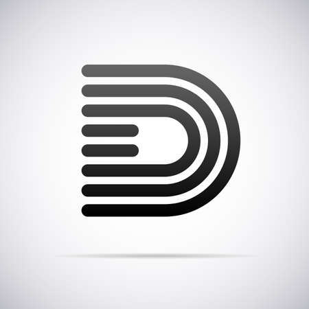 d: letter D design template vector illustration